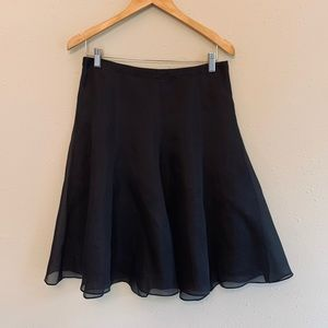 Banana Republic Silk Midi Black Skirt/Sz:4